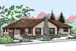 Home Plan - Traditional Exterior - Front Elevation Plan #60-521