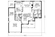 Colonial Style House Plan - 4 Beds 2.5 Baths 2340 Sq/Ft Plan #46-407 Floor Plan - Main Floor Plan