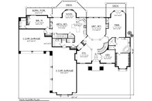 Ranch Floor Plan - Main Floor Plan Plan #70-1142
