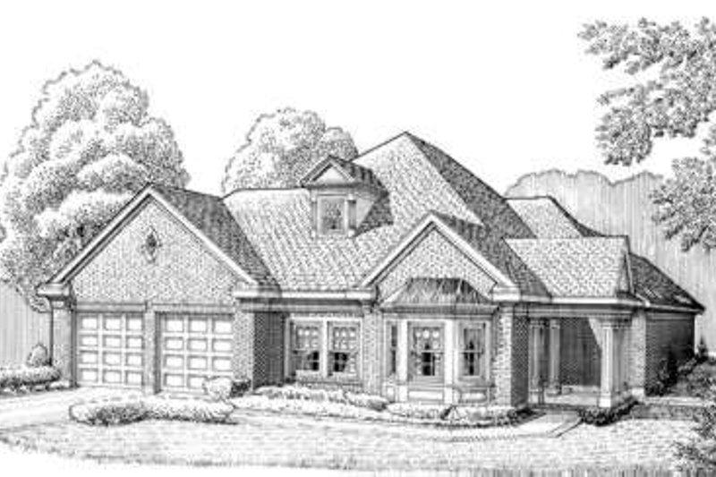 European Exterior - Front Elevation Plan #410-282 - Houseplans.com