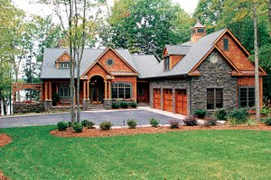 Craftsman Exterior - Front Elevation Plan #453-638