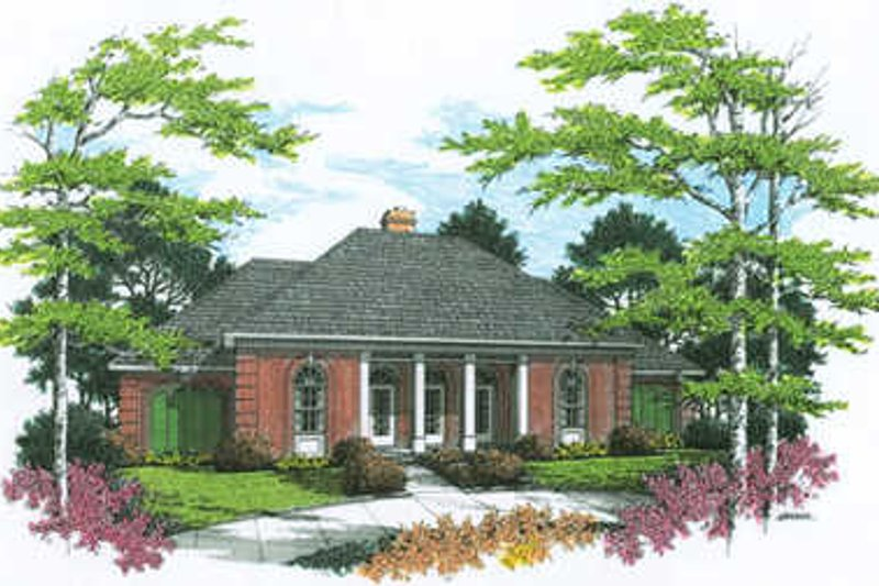 Traditional Exterior - Front Elevation Plan #45-219 - Houseplans.com