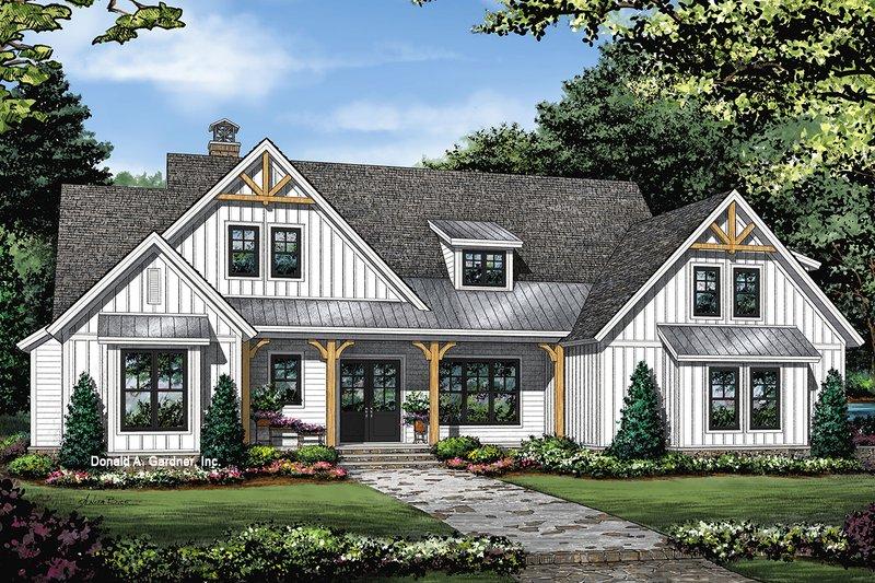 House Plan Design - Farmhouse Exterior - Front Elevation Plan #929-1086