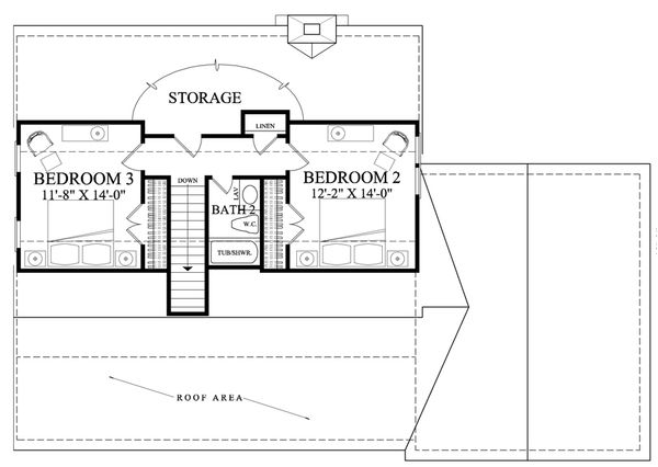 Country Floor Plan - Upper Floor Plan Plan #137-278