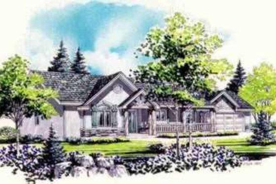 Traditional Exterior - Front Elevation Plan #308-243