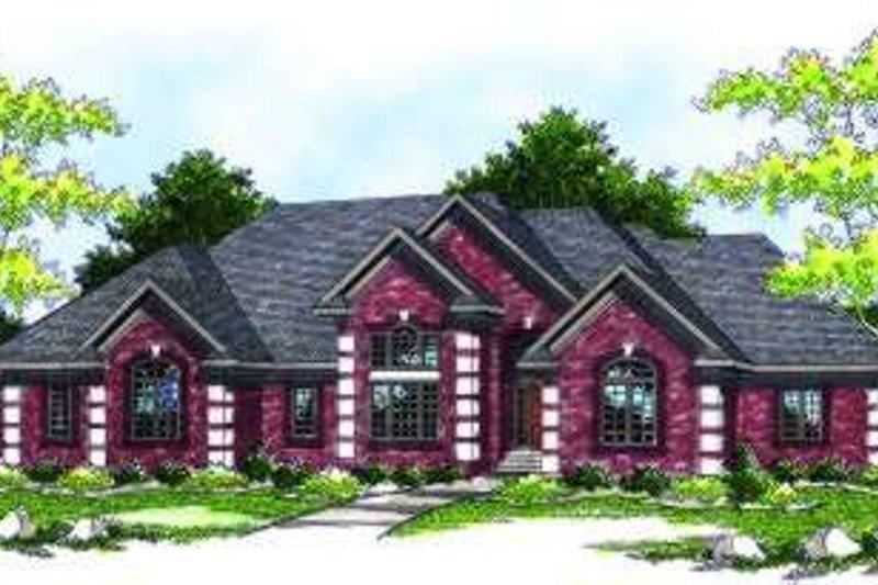 Architectural House Design - European Exterior - Front Elevation Plan #70-789