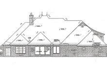 European Exterior - Rear Elevation Plan #310-983
