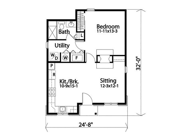 Dream House Plan - Cottage Floor Plan - Main Floor Plan #22-607