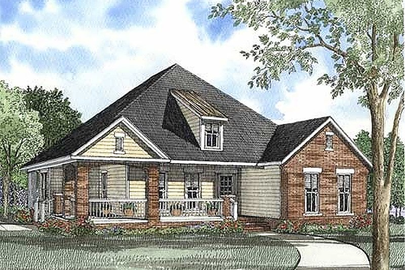 Architectural House Design - Traditional Exterior - Front Elevation Plan #17-1158