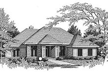 Traditional Exterior - Front Elevation Plan #70-305