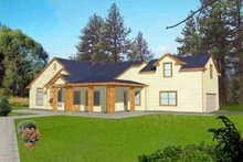 Dream House Plan - Traditional Exterior - Front Elevation Plan #117-297