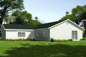 Ranch Exterior - Front Elevation Plan #1-1202