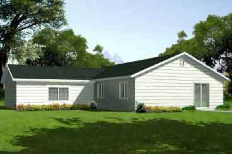 Ranch Style House Plan - 3 Beds 2 Baths 1348 Sq/Ft Plan #1-1202 Exterior - Front Elevation