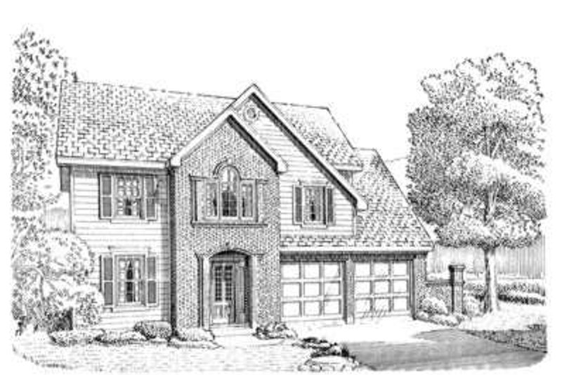 European Exterior - Front Elevation Plan #410-374