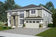 Contemporary Style House Plan - 4 Beds 4.5 Baths 3887 Sq/Ft Plan #1066-12 Exterior - Front Elevation