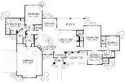 Mediterranean Style House Plan - 3 Beds 3 Baths 2238 Sq/Ft Plan #80-151 Floor Plan - Main Floor