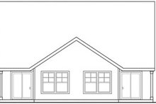Craftsman Exterior - Rear Elevation Plan #124-808