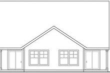 Architectural House Design - Craftsman Exterior - Rear Elevation Plan #124-808