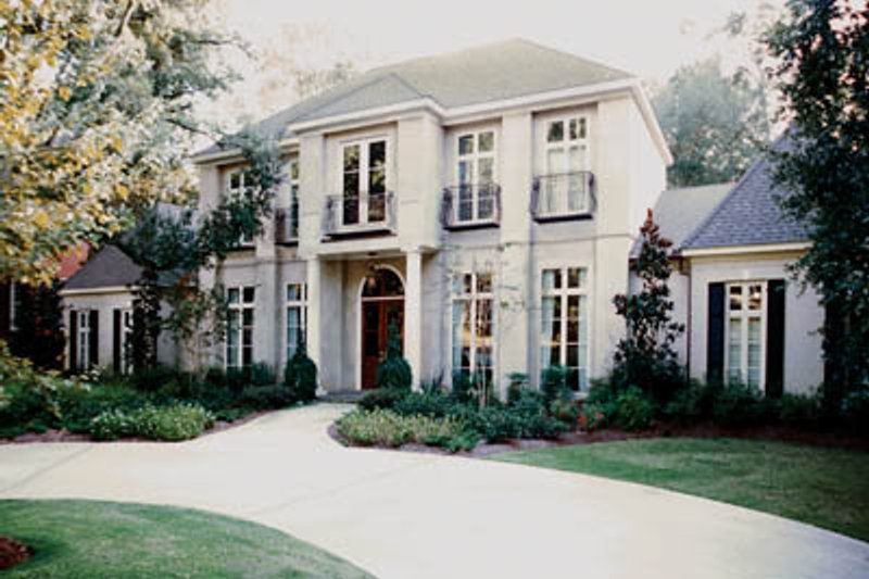 European Style House Plan - 4 Beds 6 Baths 5560 Sq/Ft Plan #45-180 Exterior - Front Elevation