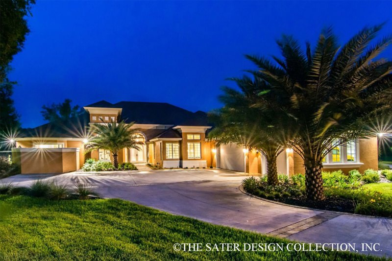 Architectural House Design - Mediterranean Exterior - Front Elevation Plan #930-102