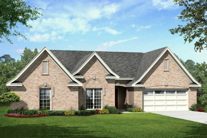House Plan - 4 Beds 3 Baths 2119 Sq/Ft Plan #329-336 Exterior - Front Elevation