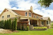 Craftsman Style House Plan - 5 Beds 5 Baths 6856 Sq/Ft Plan #458-5 Exterior - Rear Elevation