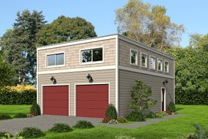 Contemporary Exterior - Front Elevation Plan #932-290