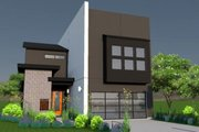 Modern Style House Plan - 3 Beds 4 Baths 3611 Sq/Ft Plan #449-7 Exterior - Front Elevation