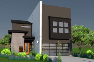 Modern Exterior - Front Elevation Plan #449-7