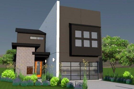 Modern Exterior - Front Elevation Plan #449-7