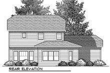 Craftsman Exterior - Rear Elevation Plan #70-907