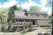 Farmhouse Style House Plan - 3 Beds 2.5 Baths 2207 Sq/Ft Plan #17-2359 Exterior - Rear Elevation