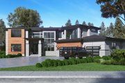 Contemporary Style House Plan - 5 Beds 4.5 Baths 5195 Sq/Ft Plan #1066-73 Exterior - Other Elevation