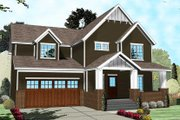 Craftsman Style House Plan - 4 Beds 2.5 Baths 2716 Sq/Ft Plan #455-203 Exterior - Front Elevation