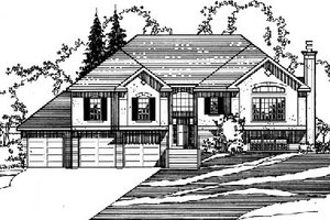 Traditional Exterior - Front Elevation Plan #31-132