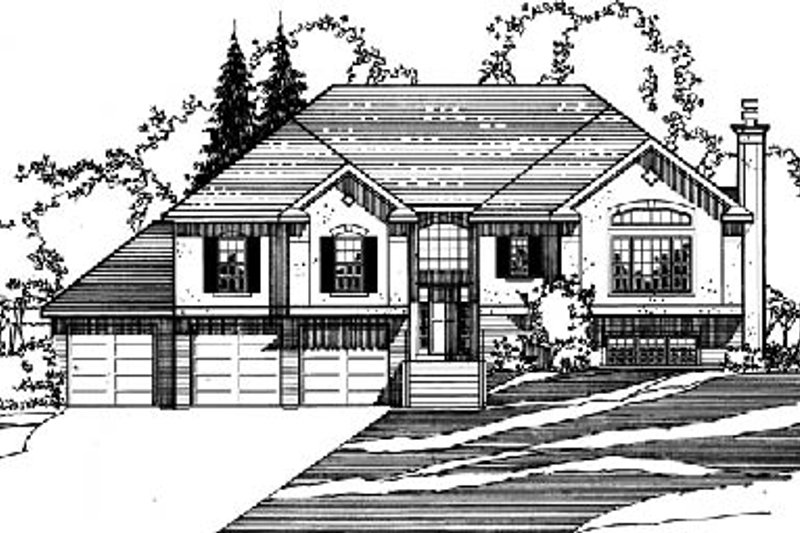 Traditional Style House Plan - 3 Beds 3 Baths 2754 Sq/Ft Plan #31-132