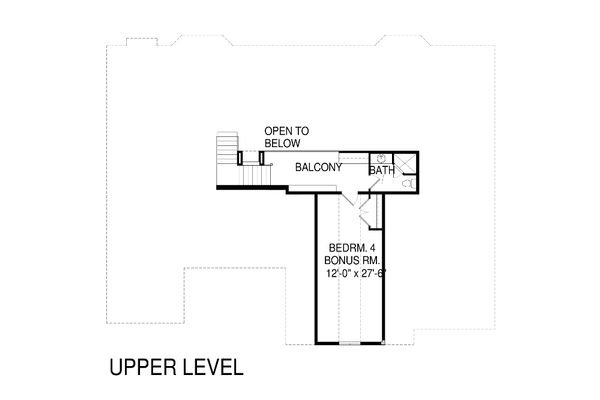 Traditional Floor Plan - Upper Floor Plan Plan #920-78