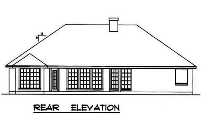 Traditional Exterior - Rear Elevation Plan #40-242 - Houseplans.com