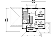 Country Style House Plan - 3 Beds 2 Baths 1708 Sq/Ft Plan #25-4576 Floor Plan - Upper Floor Plan