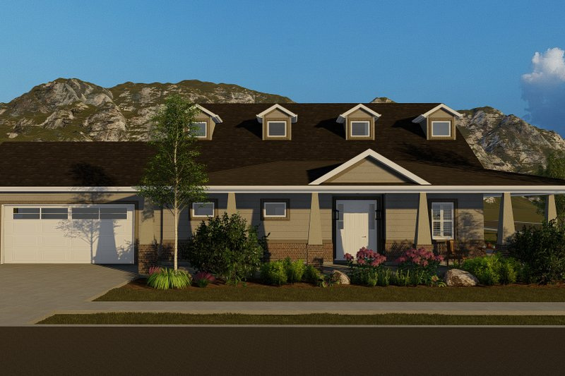 Architectural House Design - Craftsman Exterior - Front Elevation Plan #1060-70