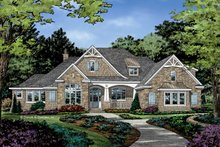Home Plan - European Exterior - Front Elevation Plan #929-1037