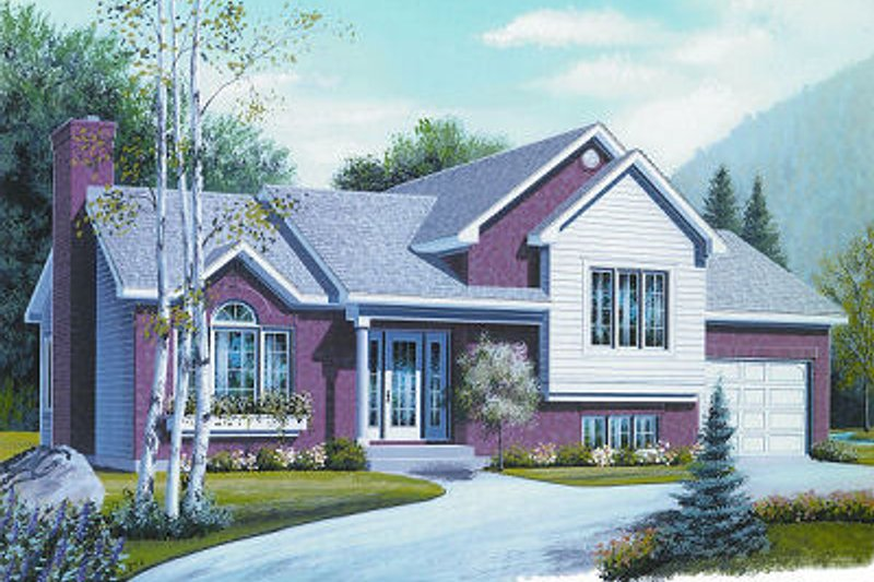 Architectural House Design - Contemporary Exterior - Front Elevation Plan #23-709