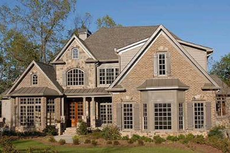 European Exterior - Front Elevation Plan #54-162 - Houseplans.com