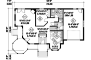 Victorian Style House Plan - 3 Beds 2 Baths 1906 Sq/Ft Plan #25-4742 Floor Plan - Main Floor