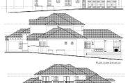 European Style House Plan - 6 Beds 8 Baths 6399 Sq/Ft Plan #135-141 Exterior - Rear Elevation
