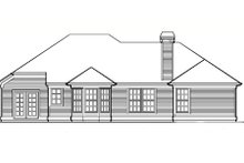 Dream House Plan - Traditional Exterior - Rear Elevation Plan #48-206