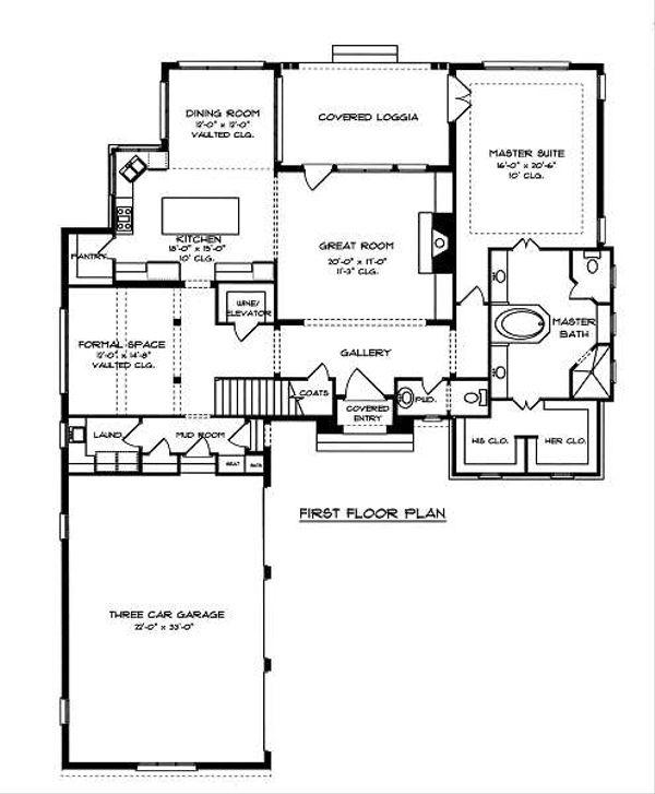 European Floor Plan - Main Floor Plan #413-145
