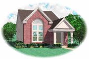 Southern Style House Plan - 3 Beds 2.5 Baths 1533 Sq/Ft Plan #81-131 Exterior - Front Elevation