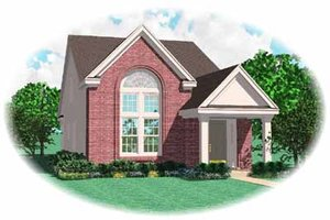 Southern Exterior - Front Elevation Plan #81-131