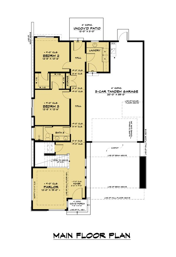 Contemporary Floor Plan - Main Floor Plan Plan #1066-120
